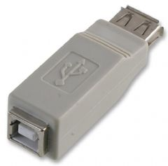 PRO POWER PEC0052  Adaptor Usb Af To Bf L Grey